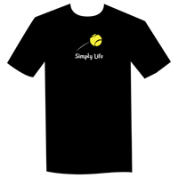 Simply Life Tennis unisex and Black Mens Tee