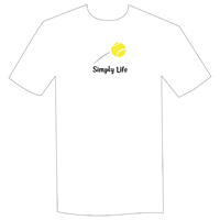 Simply Life Tennis Unisex and Men's White tee