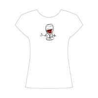 Simply Life • Red Wine  Women's Scoop Neck Cap Sleeve Tee on white