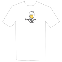 Simply Life • White Wine  Unisex Short Sleeve Tee on white