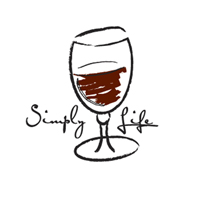 Simply Life White Wine on White tee